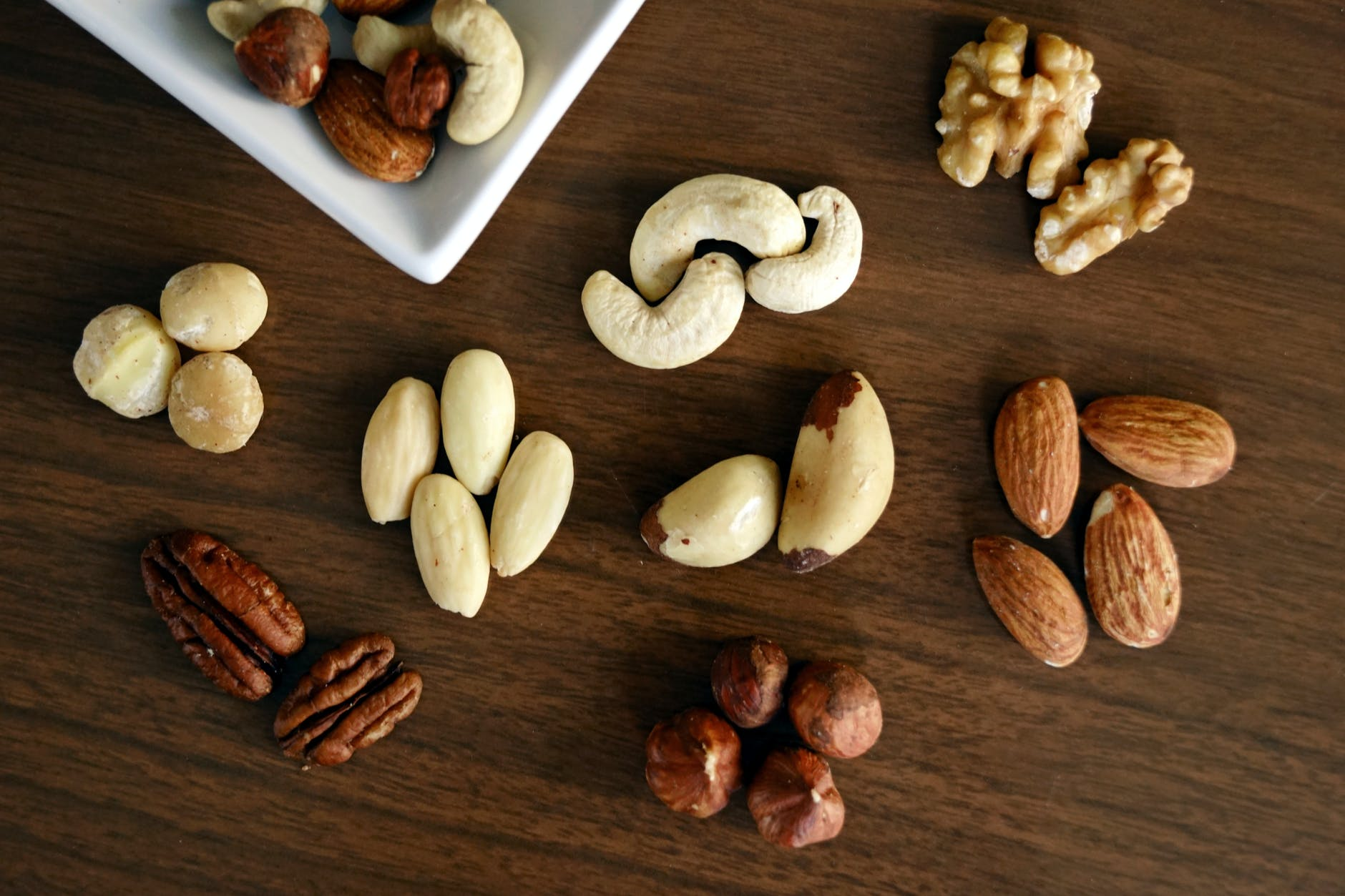 druhy ořechů