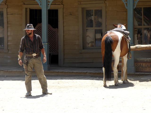 kovboj s koněm
